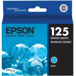 Cartouche d'encre Cyan d'origine OEM Epson T125220 (T1252) Capacité Standard