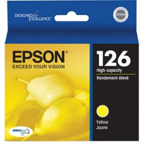 Cartouche d'encre Jaune d'origine OEM Epson T126420 (T1264) Haut Rendement