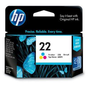 Cartouche d'encre Couleur d'origine OEM Hewlett Packard C9352AN (HP 22) Tricolore