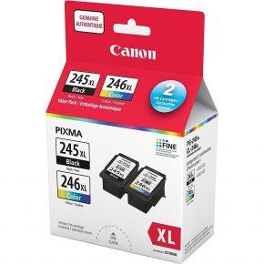 Ensemble De 2 Cartouches Originales Canon PG-245XL / CL-246XL Noir Et Couleurs - Haut Rendement