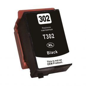 Cartouche d'encre Noir Réusinée Epson 302XL (T302XL020) Haut Rendement