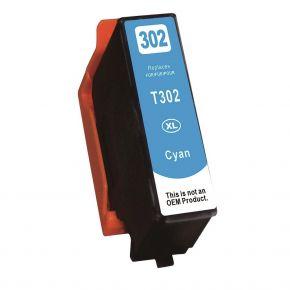 Cartouche d'encre Cyan Réusinée Epson 302XL (T302XL220) Haut Rendement