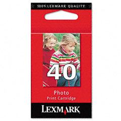Cartouche d'encre Photo d'origine OEM Lexmark 18Y0340 (#40)