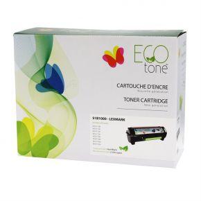 Cartouche Toner Lexmark 51B1000 Noir Recyclé Écoresponsable *Fabriqué au Quebec*