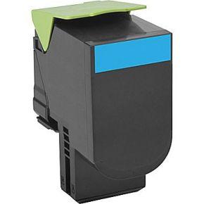 Cartouche Toner Laser réusinée LEXMARK (80C1HC0) 801HC - Haut Rendement Cyan