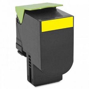 Cartouche Toner Laser réusinée  LEXMARK (80C1HY0) 801HY - Haut Rendement Jaune