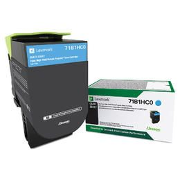 Cartouche Toner Laser Originale LEXMARK 71B1HC0 - Haut Rendement Cyan