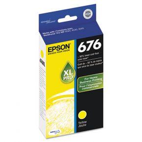 Cartouche d'encre Originale pour EPSON 676XL - T676XL420 - Haut Rendement Jaune