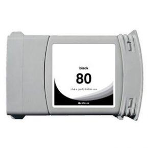 Cartouche d'encre Noir Compatible Hewlett Packard C4871A (HP 80 pour Imprimante DesignJet 1050/1055 )