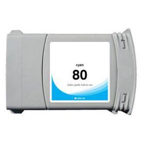 Cartouche d'encre Cyan Compatible Hewlett Packard C4846A (HP 80 pour Imprimante DesignJet 1050/1055 )