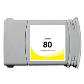 Cartouche d'encre Jaune Compatible Hewlett Packard C4848A (HP 80 pour Imprimante DesignJet 1050/1055 )