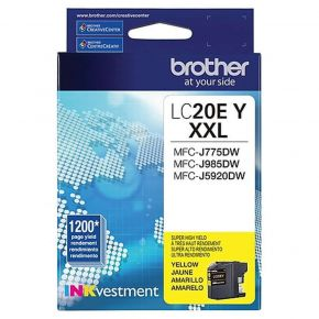 Cartouche d'origine Brother LC20EXXL Jaune Extra Haut rendement