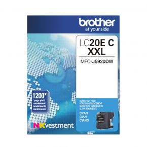 Cartouche d'origine Brother LC20EXXL Cyan Extra Haut Rendement