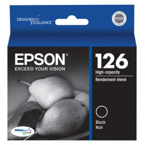 Cartouche d'encre Noir d'origine OEM Epson T126120 (T1261) Haut Rendement