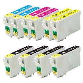 Ensemble de 10 cartouches Compatibles pour Epson T125