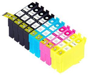 Ensemble de 10 cartouches compatibles pour Epson T126 - Haut Rendement