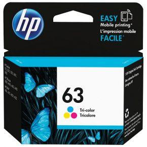 Cartouche d'encre Couleur d'origine OEM Vivera Hewlett Packard F6U61AN (HP 63)