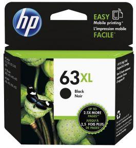 Cartouche d'encre Noir d'origine OEM Vivera Hewlett Packard F6U64AN (HP 63XL) Haut Rendement