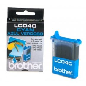 Cartouche d'encre Cyan d'origine OEM Brother LC04C
