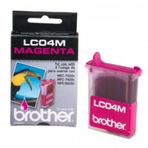 Cartouche d'encre Magenta d'origine OEM Brother LC04M