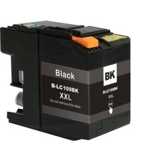 Cartouche encre compatible BROTHER LC109 BK - Extra Haut Rendement - Noir