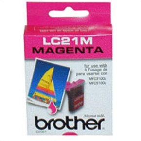 Cartouche d'encre Magenta d'origine OEM Brother LC21M
