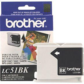 Cartouche d'encre Noir d'origine OEM Brother LC51BK (LC51)