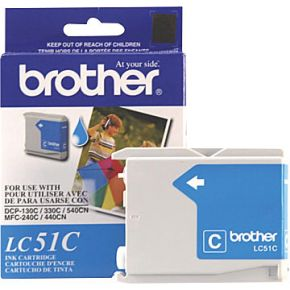 Cartouche d'encre Cyan d'origine OEM Brother LC51C (LC51)