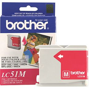 Cartouche d'encre Magenta d'origine OEM Brother LC51M (LC51)