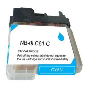 Cartouche d'encre Cyan Compatible Brother LC61C (Séries LC61)