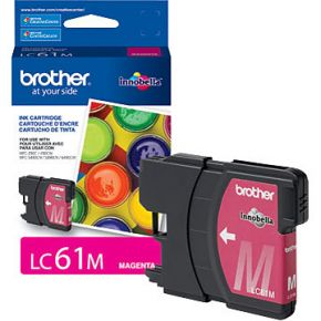 Cartouche d'encre Magenta d'origine OEM Brother LC61M (LC61)