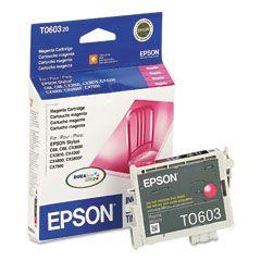 Cartouche d'encre Magenta d'origine OEM Epson T060320 (T0603)