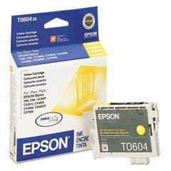 Cartouche d'encre Jaune d'origine OEM Epson T060420 (T0604)