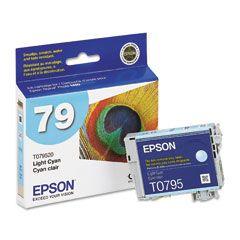 Cartouche d'encre Light Cyan d'origine OEM Epson T079520 (T0795) Haut Rendement