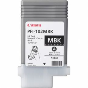 Cartouche d'encre Noir Matte d'origine OEM Canon 0894B001AA (PFI-102MBK)