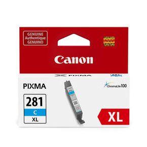 Cartouche d'encre Cyan Originale Canon CLI-281XL Haut Rendement