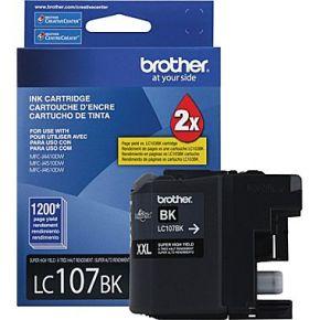 Cartouche encre OEM  BROTHER LC107BK - Extra Haut Rendement - Noir