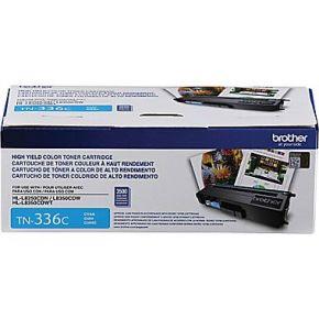 Cartouche Laser Toner Originale OEM BROTHER TN-336C - Haut Rendement - Cyan
