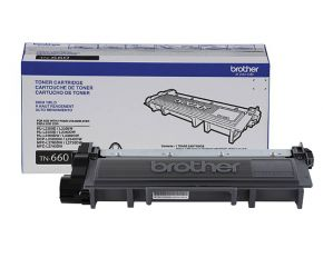 Cartouche Brother TN660 Toner Laser Noir d'origine OEM Haut Rendement