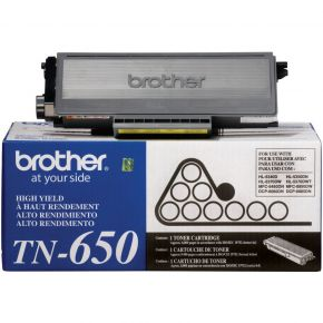 Cartouche Toner Laser Noir D'origine Brother TN650 Haut Rendement