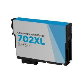 Cartouche d'encre Cyan Réusinée Epson 702XL (T702XL220) Haut Rendement