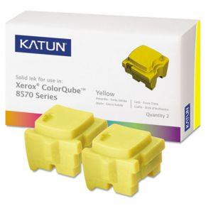 Encre Solide Jaune Compatible Xerox 108R00928 pour imprimante ColorQube 8570 (Ensemble de 2 cartouches)