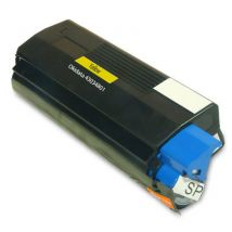 Cartouche Toner Laser Jaune Compatible Okidata 43034801 (Type C6) pour Imprimante C3100 & C3200 Series