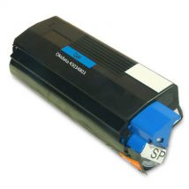 Cartouche Toner Laser Cyan Compatible Okidata 43034803 (Type C6) pour Imprimante C3100 & C3200 Series