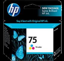 Cartouche d'encre Couleur d'origine OEM Hewlett Packard CB337WN (HP 75) Tricolore