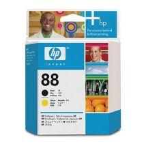 Tête d'impression Noir Jaune d'origine OEM Hewlett Packard C9381A (HP 88)