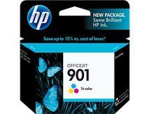 Cartouche d'encre Couleur d'origine OEM Vivera Hewlett Packard CC656AN (HP 901) Tricolore