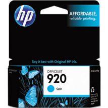 Cartouche d'encre Cyan d'origine OEM Hewlett Packard CH634AN (HP 920)