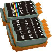 Ensemble de 8 Cartouches d'encre Compatibles Canon PGI35 & CLI36
